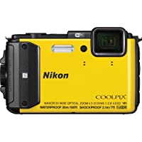 Nikon COOLPIX AW130 Compact Digital Camera - Yellow - International Version (No Warranty)