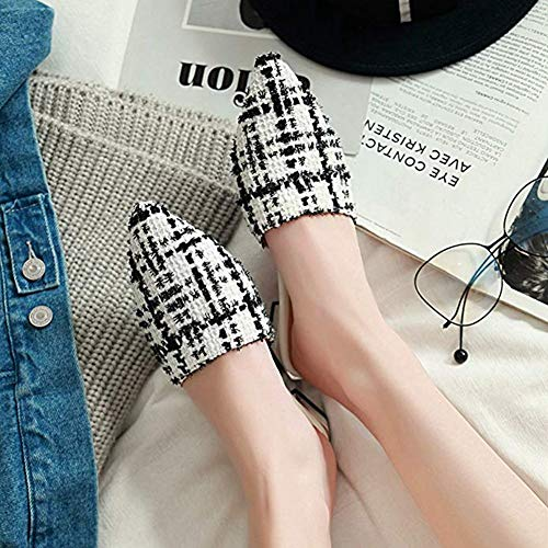T-JULY 2018 Fashion Fashion Flat Sandals Pointed & Closed Toe Mules Home Slippers Slides Slip On Lazy Dress Shoes by T-JULY (Image #5)