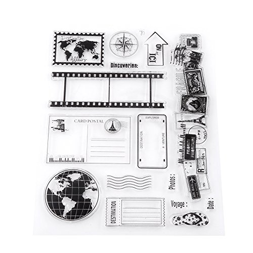 - Akozon Clear Stamp Scrapbook Photo Cards Postcards 14x18cm Rubber Seal Silicone Stamps