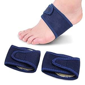 eDealMax 1 par Azul Talla arco de soporte Con Comfort Gel-amortiguadores respirables fascitis Plantar