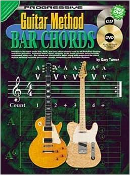 Book Progressive Guitar Method - Bar Chords by Gary Turner (1995)