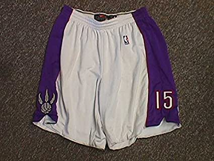 good quality newest collection 50% price Vince Carter Toronto Raptors Nike Home White Shorts at ...