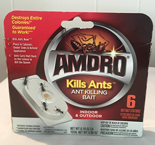 Amdro Ant Bait (Amdro 6-count Package, Kills Ants Bait Stations (4 Pack) (4))