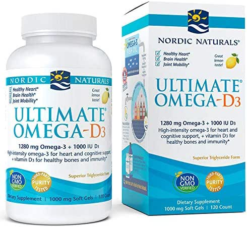 Nordic Naturals - Ultimate Omega-D3, Supports Healthy Bones and Immunity, 120 Soft Gels (FFP)