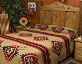 Mission Del Rey's Southwest Bedding Yavapai Collection - Reversible Bedspread - King Size 114'' x 96'' (King)