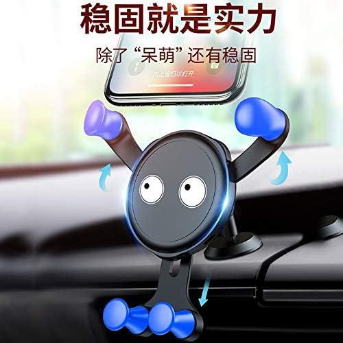 エアスナップスナップ式重力ユニバーサルユニバーサルメタルナビゲーションブラケット上の自動車電話ブラケットカーナビゲーション (Color : A)