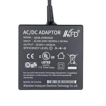 KFD 65W Adaptador Cargador Portátil para Asus Toshiba Acer Fujitsu Medion HP Cargador Portátil Asus Vivobook F550C X550C D550M D550CA-RS31 Asus X ...
