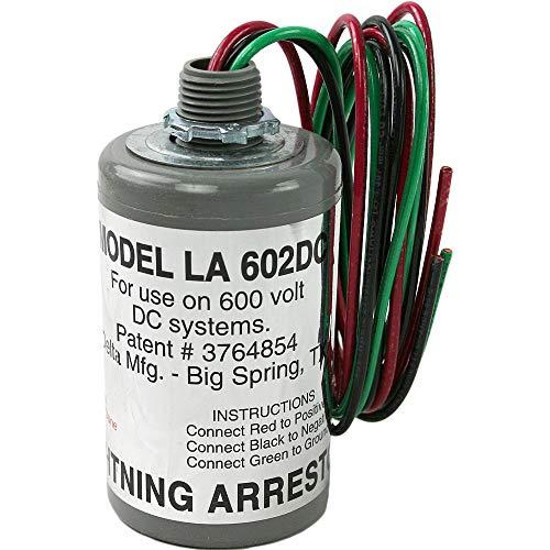 DELTA LA602DC DC Lightning Arrestor, 3-Wire, Nema-4, 1100Vdc, Gray