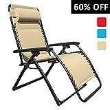 Goldsun Oversized Comfortable Padded Zero Gravity Chair (Beige)