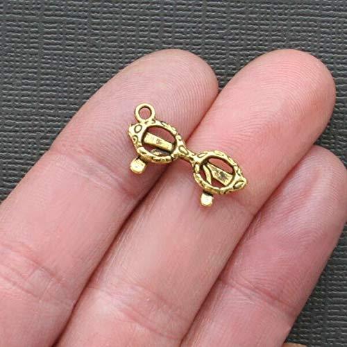 - Great Selection 8 Eyeglasses Charms Antique Gold Tone 3D - GC023 Build Your Designs