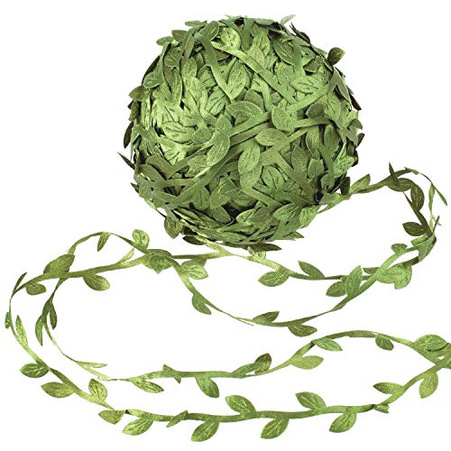 Whaline Artificial Vines 262 Feet Fake Simulation Foliage Leaf Hanging Plant Garland DIY Decorative Home Wall Garden Rustic Wedding Party Wreaths and Flower Decor