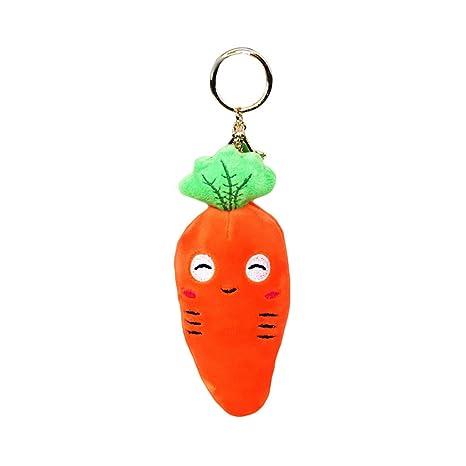 Amazon.com: DSNAPoutof - Llavero con colgante de zanahoria y ...