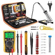 Eléctrico Soldador Kit, Kriogor Electrónica del kit de soldador Set de Soldador Electrónica de Estaño Temperatura Ajustable