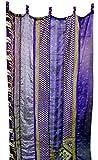 Mango Gifts India Old Sari Multicolor Curtain Door Drape Purple For Sale