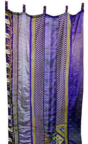 Mango Gifts India Old Sari Multicolor Curtain Door Drape Purple
