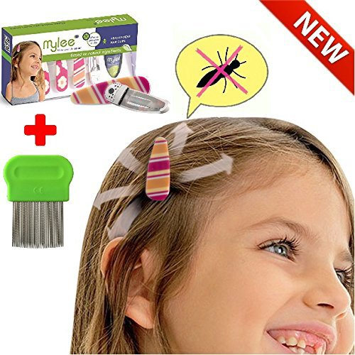 (Color B) Lice Prevention head Clips, Nit Treatment + Comb, Patented Organic Product, Safe Healthy & Effective Clips That Put An End To Lice On Your Daughter's Head- Discreet Lice (Lotion Comb)