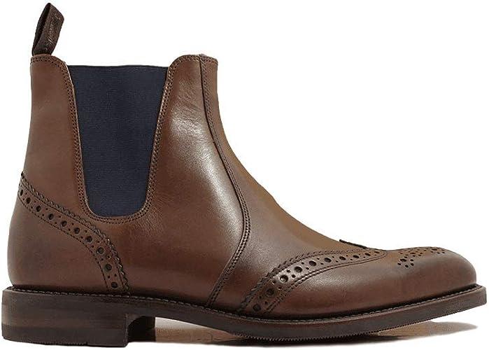 Loake Hoskins Dark Brown Leather Mens