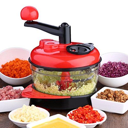 Meat Vegetable Chopper, Elevin(TM) Multi-function Kitchen Tools Manual Food Processor Meat Grinder Vegetable Chopper Mincers (Red) by Elevin(TM) _ Home Decor & Kitchen
