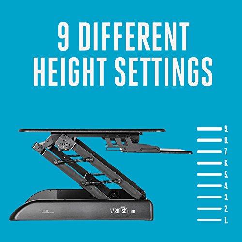 Varidesk Height Adjustable Standing Desk Exec 40 Black