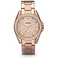 Fossil Riley ES2811 Rose Gold Stainless Steel Women's Fashion Watch