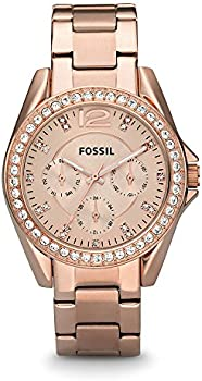 Fossil Riley Rose Gold Stainless Steel Women's Fashion Watch