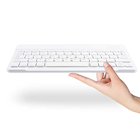 Nobrand SHENGMASI HW2031 Detachable Plastic Bluetooth Keyboard Lambskin Texture PU Leather Protective Cover Color : Gold