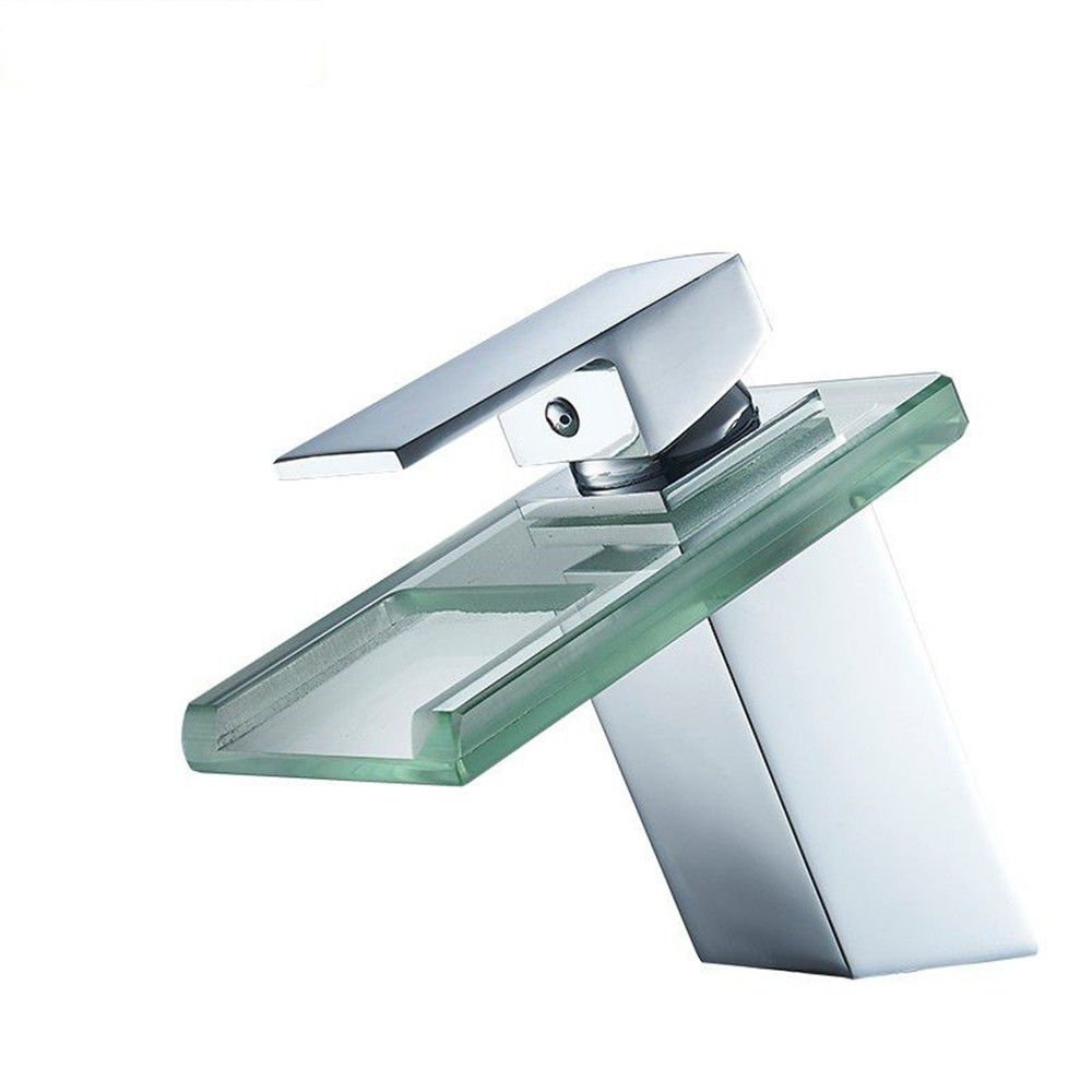 A Lpophy Bathroom Sink Mixer Taps Faucet Bath Waterfall Cold and Hot Water Tap for Washroom Bathroom and Kitchen Waterfall B