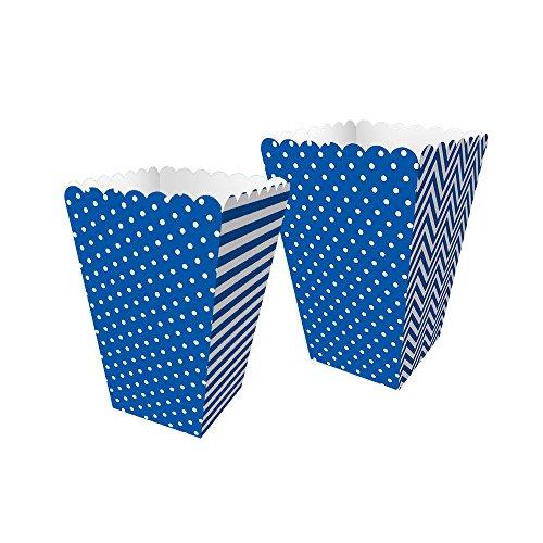 Regina Caixa Mini Pipoca R568 Festa Colors Azul Royal, 8 Unidades