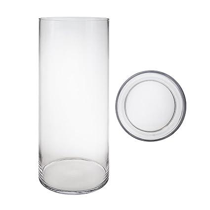 Amazon Mega Vases 8 X 24 Cylinder Glass Vase Set Of 1