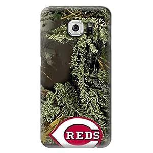 S6 Edge Case, MLB - Cincinnati Reds Realtree Camo - Samsung Galaxy S6 Edge Case - High Quality PC Case