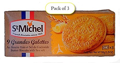 St Michel La Grande Galette Salted Butter, 5.3 Ounce (Pack of 3)
