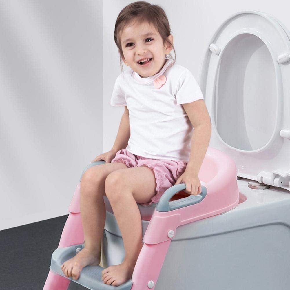 rutschfeste T/öpfchentoilette f/ür Kinder Jungen M/ädchen Toilettentrainer mit Treppe T/öpfchentisch Kleinkind Toilettensitz mit Tritthocker Leiter 38x22x39cm