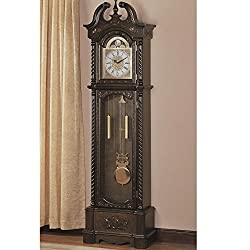 1PerfectChoice Traditional Grandfather Clock Floor Westminster Pendulum Chimes Roman Numeral