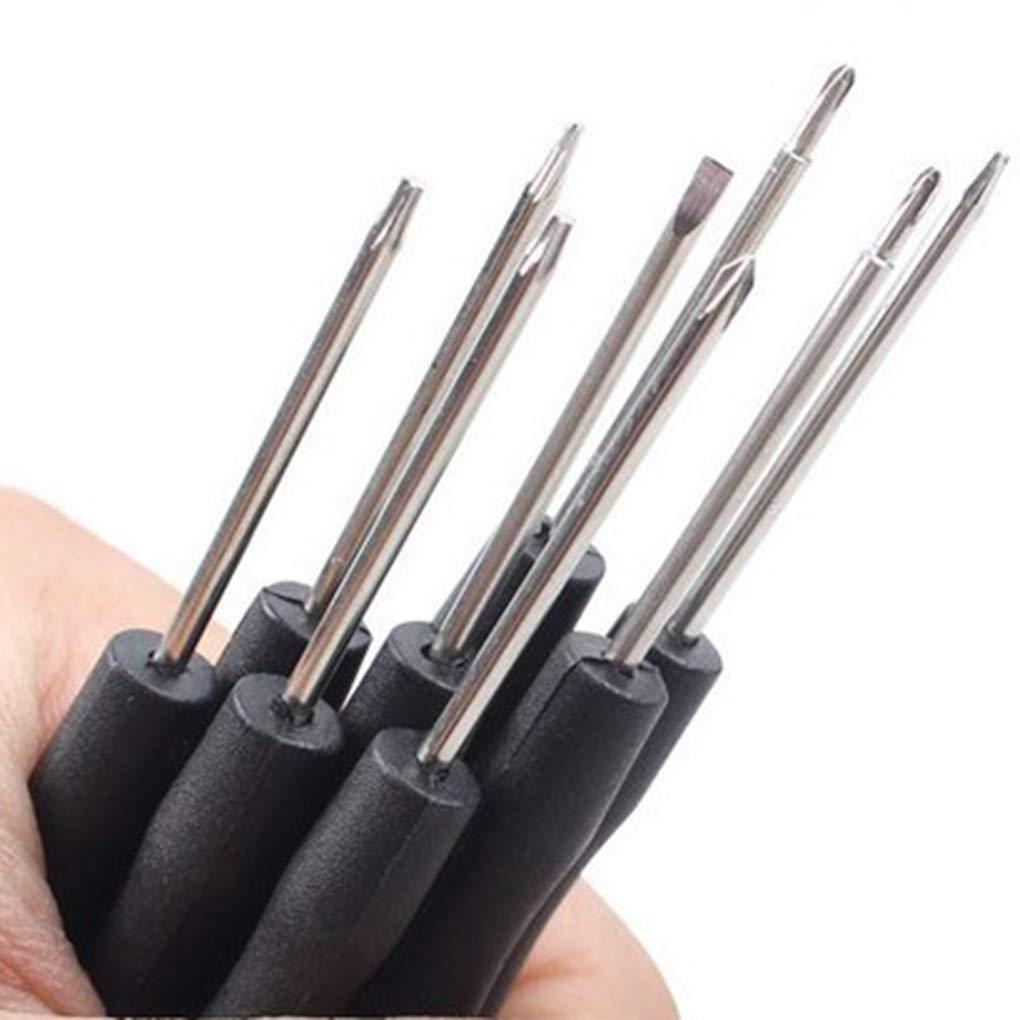 Lega di alluminio 10pcs Set di cacciaviti di precisione Mini piccola in pelle Kit Strumenti cassa del telefono PC Laptop Repair Sunlera