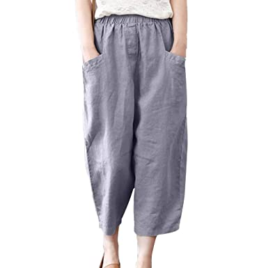 Gusspower Mujer Pantalones Chándal de Lápiz Largos Casual Algodón ...
