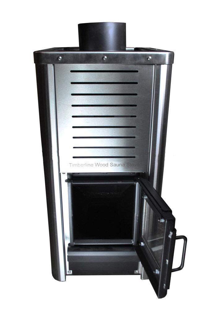 Timberline Wood Sauna Stove - Stainlesss Steel Sauna Heater by Northern Lights Group