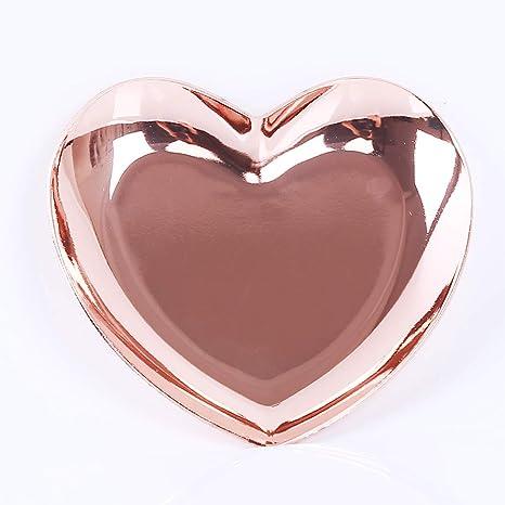 Hengxing - Bandeja de Acero Inoxidable con Forma de corazón ...
