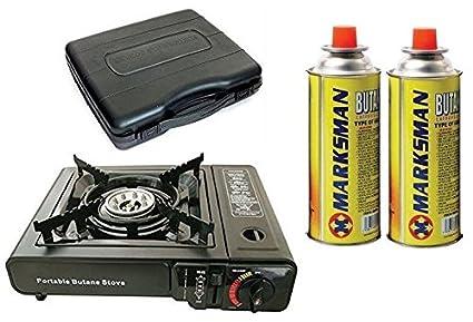 Nueva cocina sola estufa de gas portátil con 2 quemador de gas Camping barbacoa de fiesta