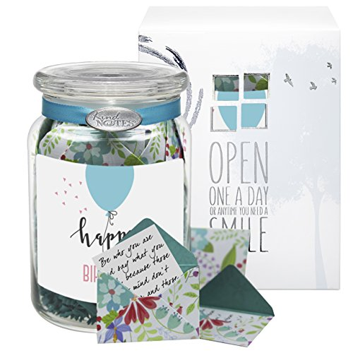 Glass KindNotes INSPIRATIONAL Keepsake Gift Jar Of Messages For Him Or Her Birthday Thank You Anniversary Just Because Fresh Cut Floral Simple
