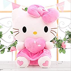 PAINUR Gato Muñeca Almohada Muñeca Juguete De Peluche MuñecaAnimal Doll Regalo De Cumpleaños Encantador para Bebé Niño NiñaPresente60Cm