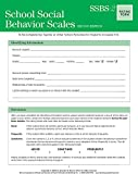 School Social Behavior Scales Rating Form (set of 25)