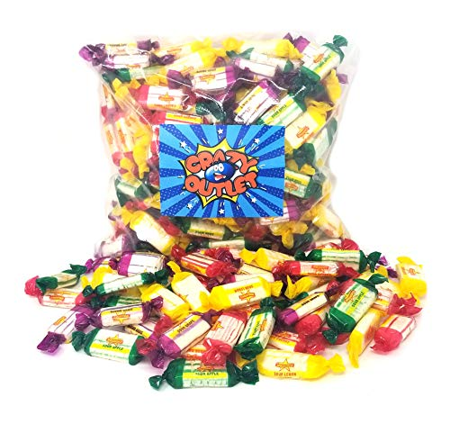 - CrazyOutlet Pack - Atkinson's Assorted Sour Hard Candy, Grape, Lemon, Apple, Cherry Flavored Sour Candy Mix, Individually Wrapped Bulk Pack, 2 Lbs