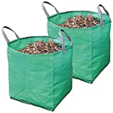 Spares2go Large Extra Strong Garden Waste Rubbish Bag Sack (120 Litre, Pack of 2)