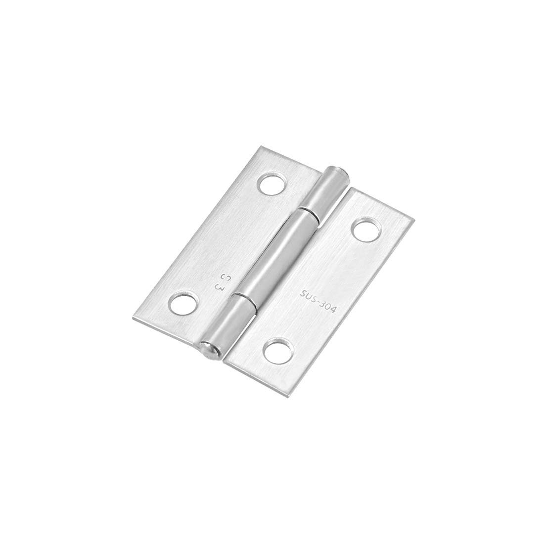 uxcell 1.5inch Hinge Silver Door Cabinet Hinges
