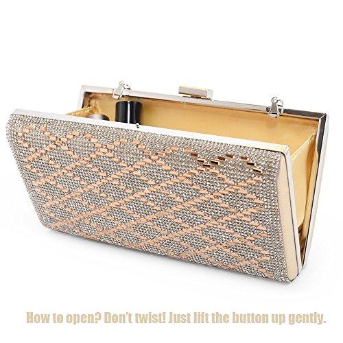 Gold Evening Handbag Hard Woman Clutch Metal Shoulder Bags Frame ...