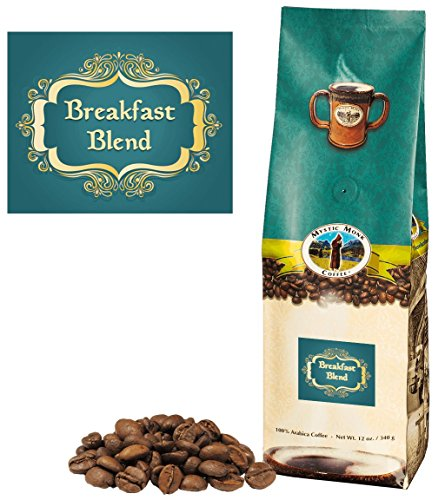 Mystic Monk Coffee: Paradiso Blend Whole Bean (Medium Roast 100% Arabica Coffee) - 32 Ounces