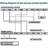 UHPPOTE Fail-Secure DC12V Deadbolt Electric Drop Bolt Plug Narrow Door Lock Time Open Wire UT0521-500NO