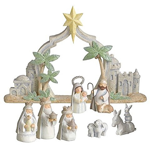 Grasslands Road Gifts of Glory Mini Nativity Scene, Resin -