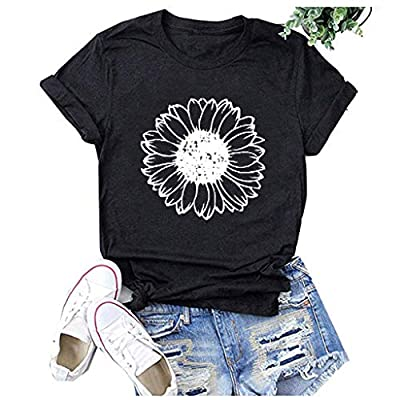 Winsummer I've Got A Good Heart But This Mouth Sarcastic T-Shirt Women V-Neck Graphic T-Shirt Short Sleeve Tees Tops: Clothing