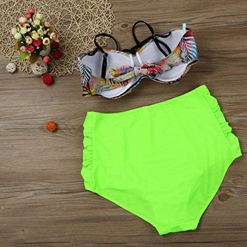 LHWY Traje De BañO De Gran TamañO Del Sujetador Que BañA Las Mujeres De La ImpresióN Bikini Set